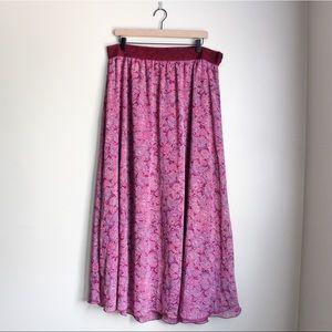 LuLaRoe Maxi Skirt - 2XL